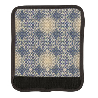 Flower of Life - stamp pattern - blue sand Luggage Handle Wrap