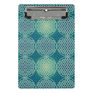 Flower of Life - stamp pattern - cyan blue