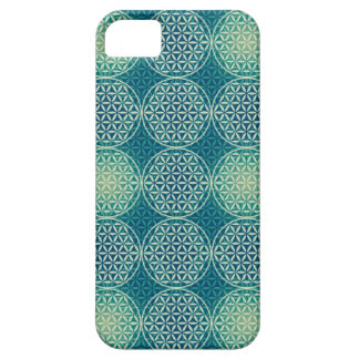 Flower of Life - stamp pattern - cyan blue iPhone 5 Cases