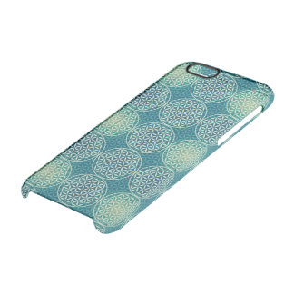 Flower of Life - stamp pattern - cyan blue Clear iPhone 6/6S Case