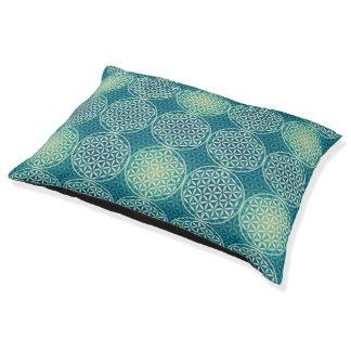 Flower of Life - stamp pattern - cyan blue