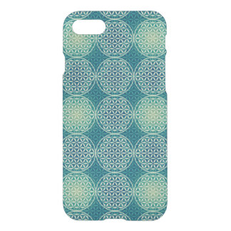 Flower of Life - stamp pattern - cyan blue iPhone 7 Case
