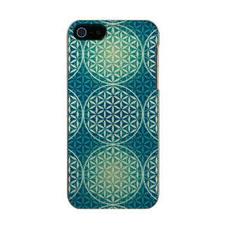 Flower of Life - stamp pattern - cyan blue Incipio Feather® Shine iPhone 5 Case