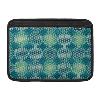 Flower of Life - stamp pattern - cyan blue Sleeve For MacBook Air