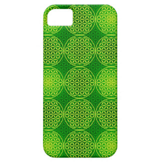 Flower of Life - stamp pattern - green iPhone 5 Cases