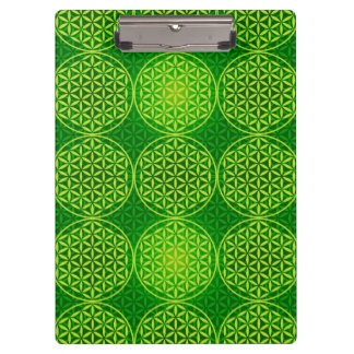 Flower of Life - stamp pattern - green Clipboard