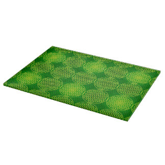 Flower of Life - stamp pattern - green Cutting Boards