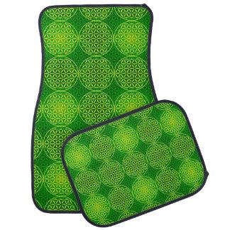 Flower of Life - stamp pattern - green Floor Mat