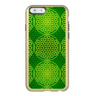 Flower of Life - stamp pattern - green Incipio Feather® Shine iPhone 6 Case