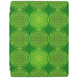 Flower of Life - stamp pattern - green iPad Cover