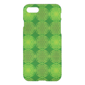 Flower of Life - stamp pattern - green iPhone 7 Case