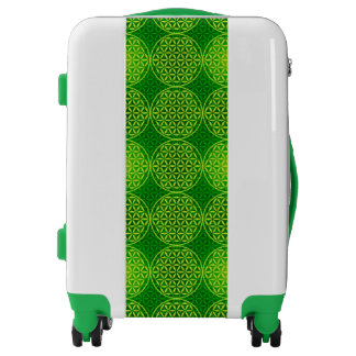 Flower of Life - stamp pattern - green Luggage
