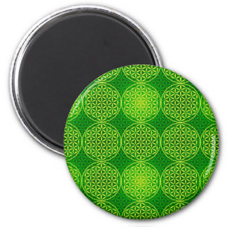 Flower of Life - stamp pattern - green Refrigerator Magnet
