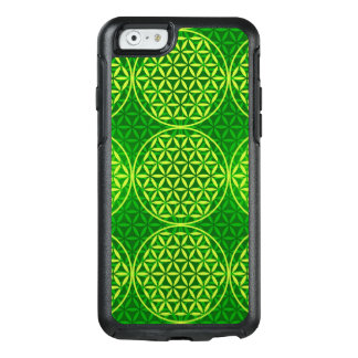 Flower of Life - stamp pattern - green OtterBox iPhone 6/6s Case