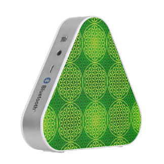 Flower of Life - stamp pattern - green Speaker