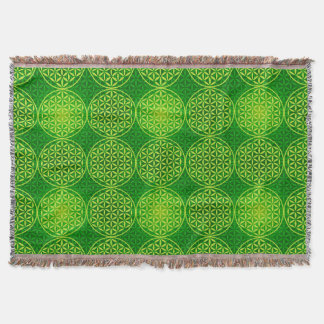 Flower of Life - stamp pattern - green