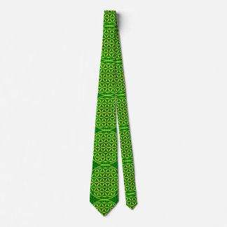 Flower of Life - stamp pattern - green Tie