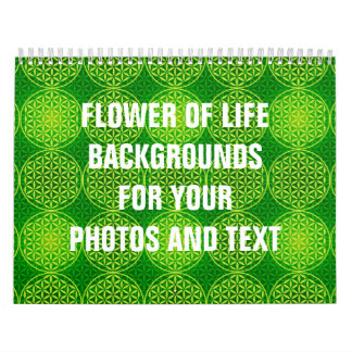 Flower of Life - stamp pattern - green Wall Calendars