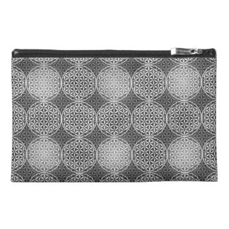 Flower of Life - stamp pattern - grey Travel Accessories Bag