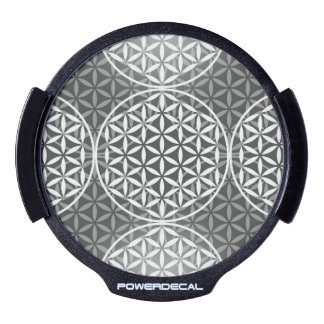 Flower of Life - stamp pattern - grey LED Car Window Decal