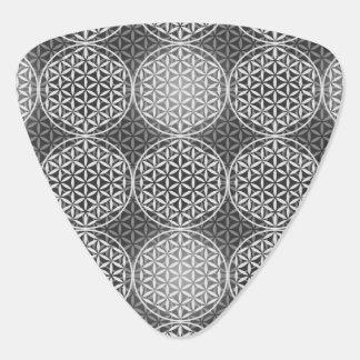 Flower of Life - stamp pattern - grey Guitar Pick