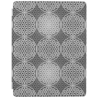 Flower of Life - stamp pattern - grey iPad Cover
