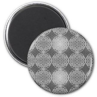 Flower of Life - stamp pattern - grey Fridge Magnet