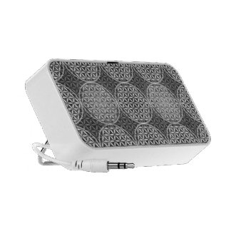 Flower of Life - stamp pattern - grey Travel Speaker