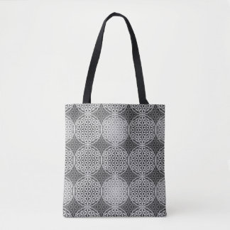 Flower of Life - stamp pattern - grey Tote Bag