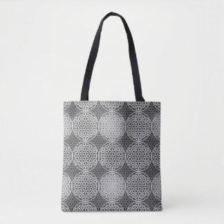Flower of Life - stamp pattern - grey Tote Bag