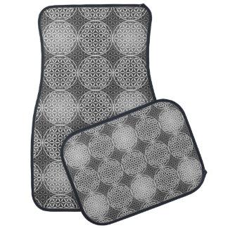 Flower of Life - stamp pattern - grey Car Mat