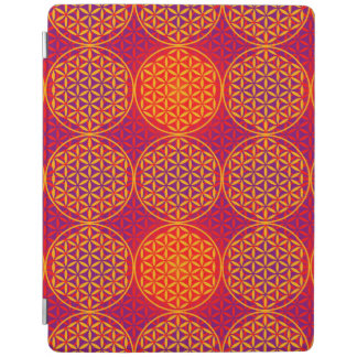 Flower of Life - stamp pattern - orange pink iPad Cover