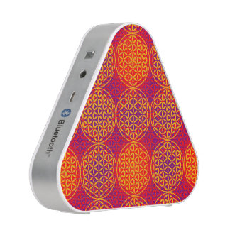 Flower of Life - stamp pattern - orange pink Bluetooth Speaker
