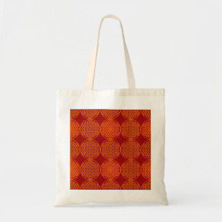 Flower of Life - stamp pattern - orange red Canvas Bags