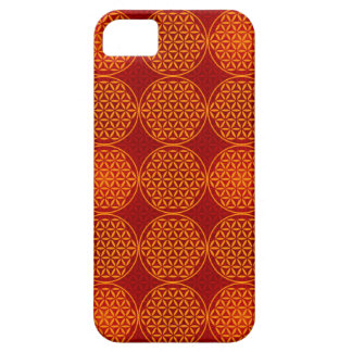 Flower of Life - stamp pattern - orange red Case For iPhone 5/5S