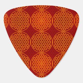 Flower of Life - stamp pattern - orange red Pick