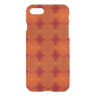 Flower of Life - stamp pattern - orange red iPhone 7 Case