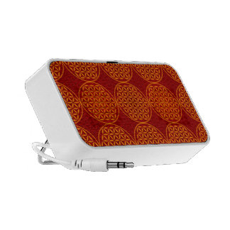 Flower of Life - stamp pattern - orange red PC Speakers