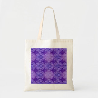 Flower of Life - stamp pattern - purple Canvas Bags