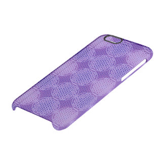 Flower of Life - stamp pattern - purple Clear iPhone 6/6S Case
