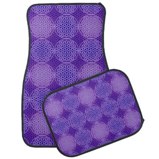 Flower of Life - stamp pattern - purple Floor Mat