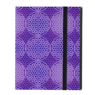 Flower of Life - stamp pattern - purple iPad Folio Cases