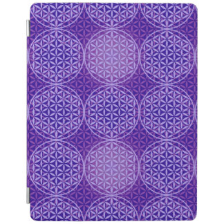Flower of Life - stamp pattern - purple iPad Cover