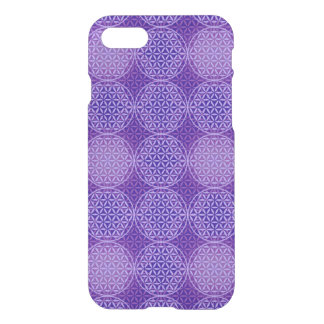 Flower of Life - stamp pattern - purple iPhone 7 Case