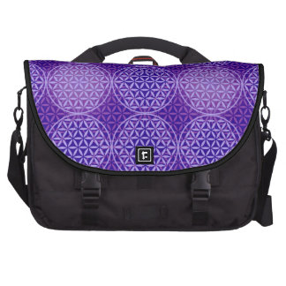 Flower of Life - stamp pattern - purple Laptop Computer Bag
