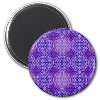 Flower of Life - stamp pattern - purple Magnet