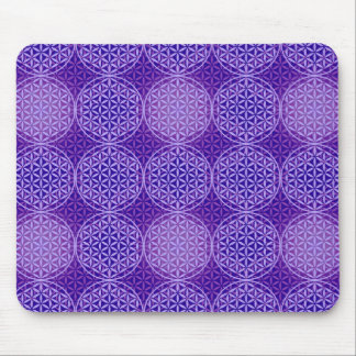Flower of Life - stamp pattern - purple Mousepad