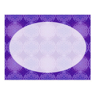 Flower of Life - stamp pattern - purple Postcards