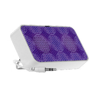 Flower of Life - stamp pattern - purple Travelling Speakers