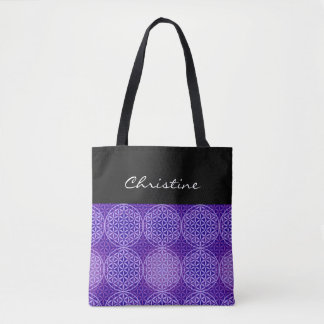 Flower of Life - stamp pattern - purple Tote Bag